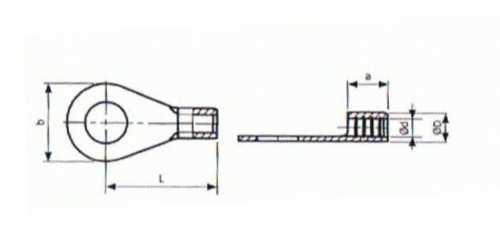 Kabel Quetschkabelschuh Kabelschuh 16mm2 Loch 12mm