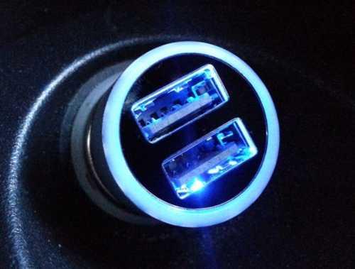 Ladekabel Kfz 12V / 24V auf 2x USB 5V max. 3,1A 3100mA