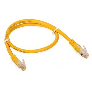 Kabel Patchkabel UTP 0,5m CAT5e gelb