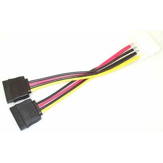 Kabel Stromadapter Y-Power S-ATA SATA 4pin / 2x 15pin